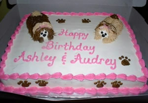 Puppies Birthday Cake